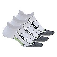 Feetures Elite Max Cushion No Show Tab 3 Pack Socks - White S