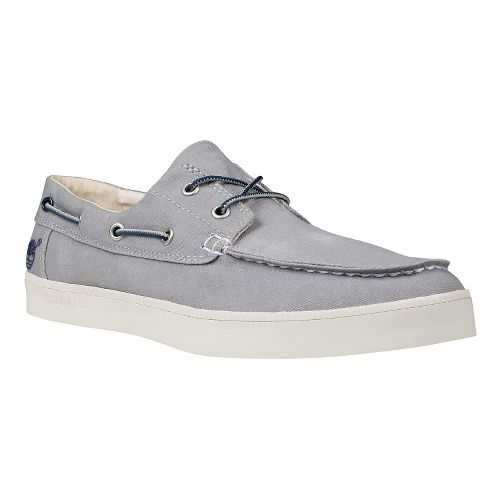 Mens Timberland Newport Bay 2-Eye Boat Oxford Casual Shoe - Medium Grey 10.5