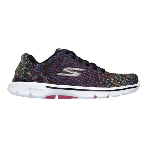 Womens Skechers GO Walk 3 - Digitize Walking Shoe - Black/Multi 7.5