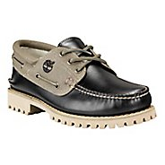 Mens Timberland Authentics 3-Eye Lug Leather and Fabric Casual Shoe
