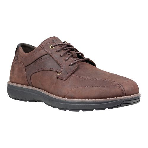 Mens Timberland Barrett Park Run-Off Toe Oxford Casual Shoe - Dark Brown 8