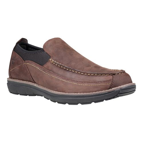 Mens Timberland Barrett Park Slip-On Casual Shoe - Dark Brown 12