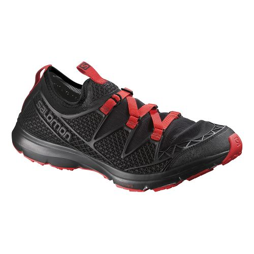 Mens Salomon Crossamphibian Hiking Shoe - Black/Red 9.5