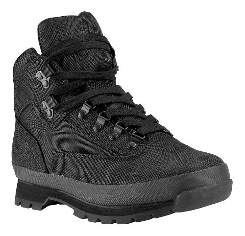 Mens Timberland Euro Hiker Mid Fabric Casual Shoe - Black 10