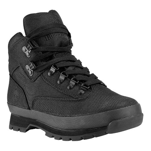 Mens Timberland Euro Hiker Mid Fabric Casual Shoe - Black 8