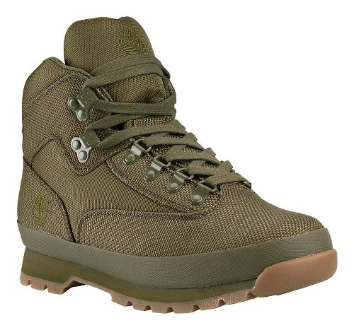 Mens Timberland Euro Hiker Mid Fabric Casual Shoe - Olive 10