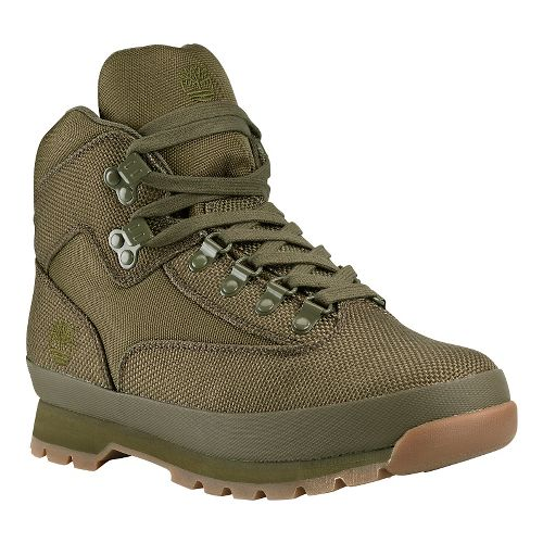 Mens Timberland Euro Hiker Mid Fabric Casual Shoe - Olive 9