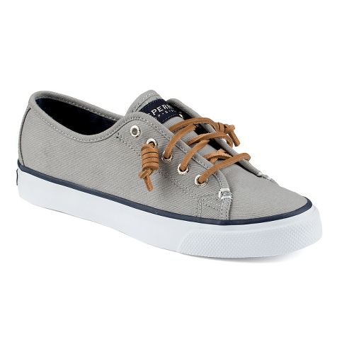 Womens Sperry Seacoast Canvas Casual Shoe - Grey 6.5