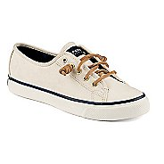 Womens Sperry Seacoast Canvas Casual Shoe - Ivory 10