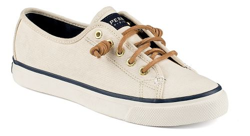 Womens Sperry Seacoast Canvas Casual Shoe - Ivory 6.5