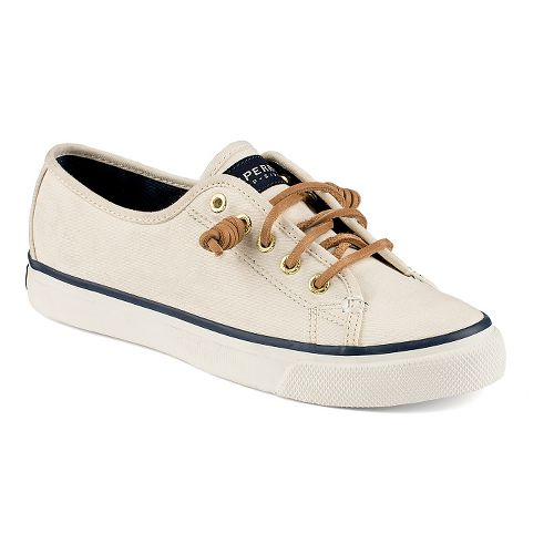 Womens Sperry Seacoast Canvas Casual Shoe - Ivory 8.5