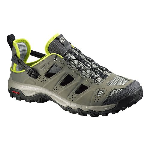 Mens Salomon Evasion Cabrio Hiking Shoe - Green/Grey 12.5