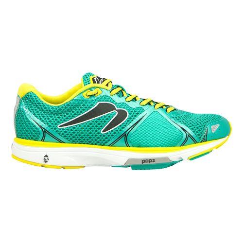 Womens Newton Running Fate II Running Shoe - Green/Yellow 7.5