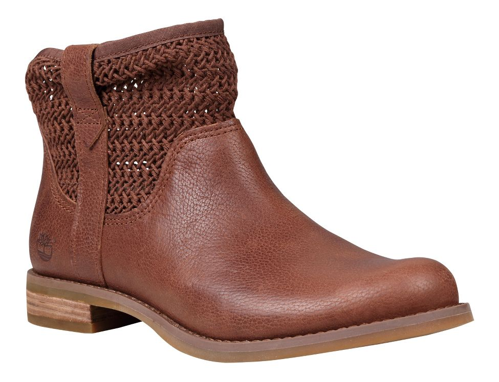 Timberland Savin Hill Leather and Fabric Ankle Boot