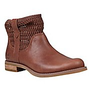 Womens Timberland Savin Hill Leather and Fabric Ankle Boot Casual Shoe