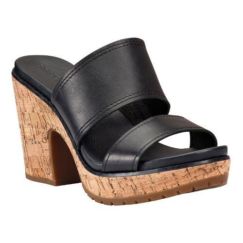 Womens Timberland Roslyn Slide Sandals Shoe - Black 6