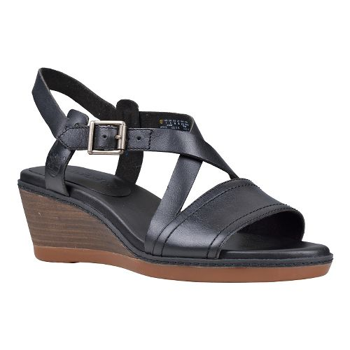 Womens Timberland Wollaston Cross Strap Sandal Sandals Shoe - Black 8.5