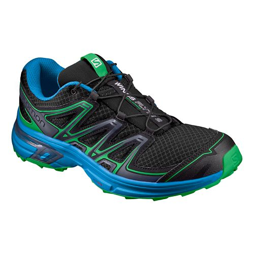 Mens Salomon Wings Flyte 2 Trail Running Shoe - Black/Blue 7