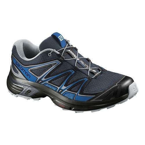 Mens Salomon Wings Flyte 2 Trail Running Shoe - Grey/Blue 10.5