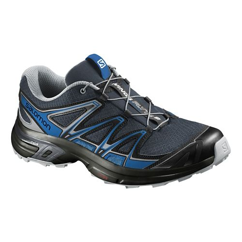 Mens Salomon Wings Flyte 2 Trail Running Shoe - Grey/Blue 8