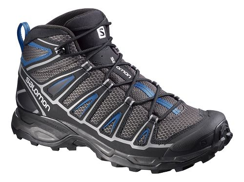 Mens Salomon X-Ultra Mid Aero Hiking Shoe - Black/Blue 7