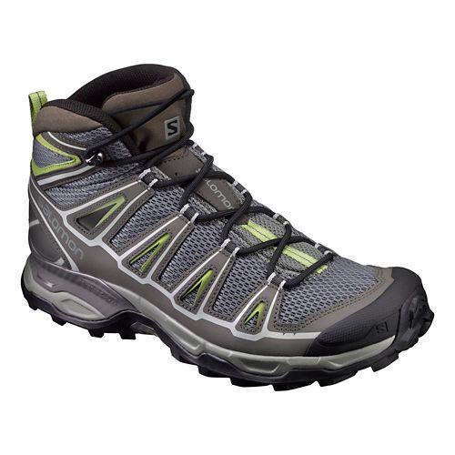 Mens Salomon X-Ultra Mid Aero Hiking Shoe - Grey 7
