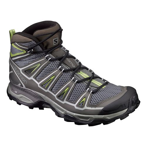 Mens Salomon X-Ultra Mid Aero Hiking Shoe - Grey 7.5