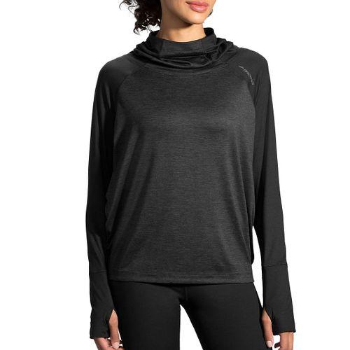 Womens Brooks Dash Half-Zips & Hoodies Technical Tops - Black S