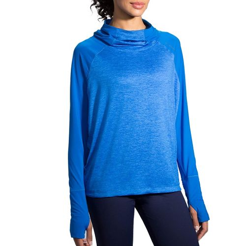 Womens Brooks Dash Hoodie & Sweatshirts Technical Tops - Wave M