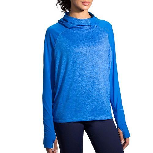 Womens Brooks Dash Half-Zips & Hoodies Technical Tops - Wave XL