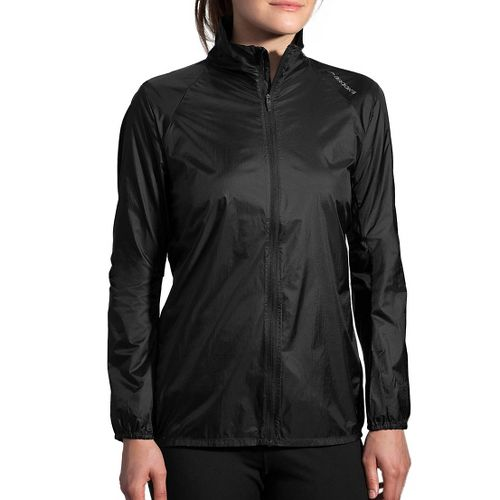 Womens Brooks LSD Jacket Running Jackets - Black L