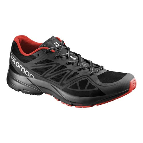 Mens Salomon Sonic Aero Running Shoe - Black 10