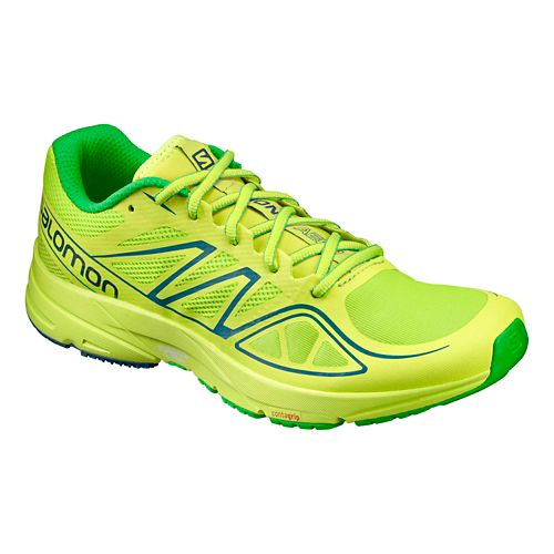 Mens Salomon Sonic Aero Running Shoe - Lime Green 12.5