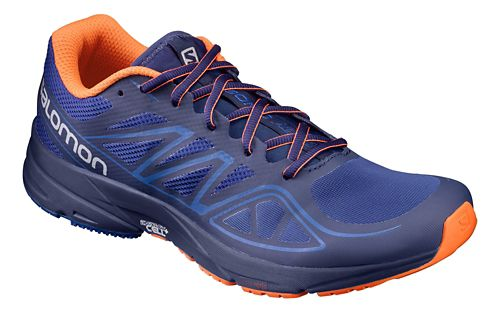 Mens Salomon Sonic Aero Running Shoe - Surf The Web/Flame 8.5