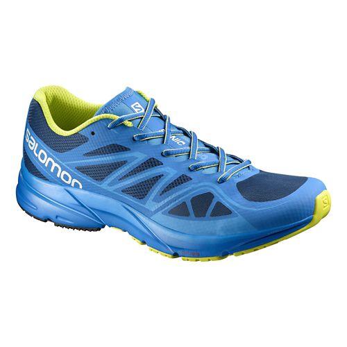 Mens Salomon Sonic Aero Running Shoe - Bright Blue 7