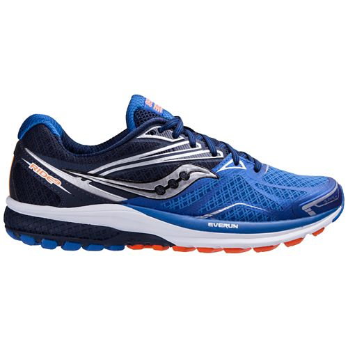 Mens Saucony Ride 9 Running Shoe - Slime/Blue 10