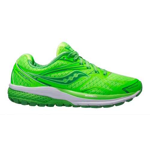 Womens Saucony Ride 9 Running Shoe - Lime Pop 8