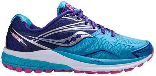 Womens Saucony Ride 9 Running Shoe - Navy/Blue 10.5