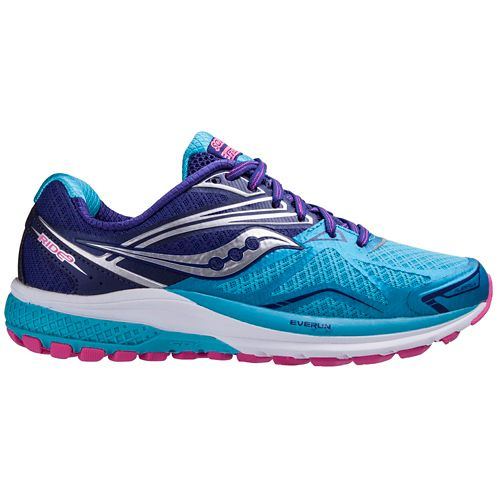 Womens Saucony Ride 9 Running Shoe - Navy/Blue 5