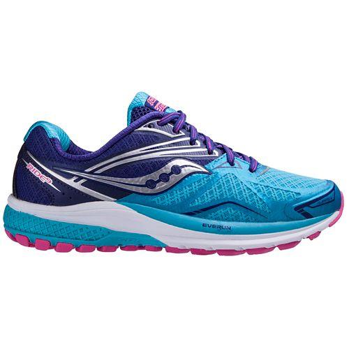 Womens Saucony Ride 9 Running Shoe - Navy/Blue 7.5