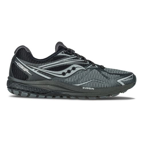 Mens Saucony Ride 9 Reflex Running Shoe - Black/Silver 10.5