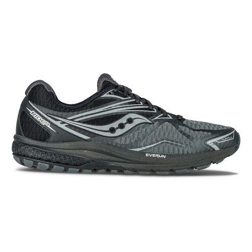 Mens Saucony Ride 9 Reflex Running Shoe - Black/Silver 7.5