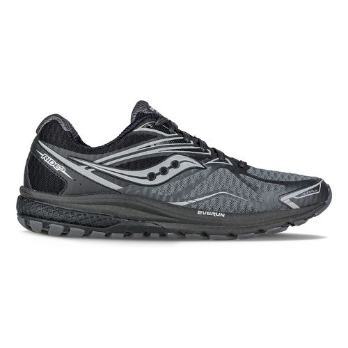 Womens Saucony Ride 9 Reflex Running Shoe - Black/Silver 11.5