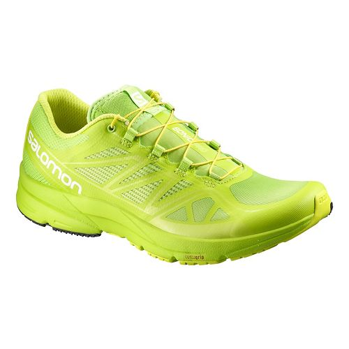 Mens Salomon Sonic Pro Running Shoe - Bright Green 10.5
