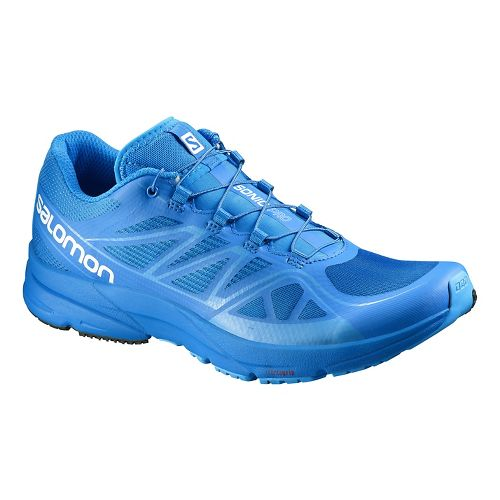 Mens Salomon Sonic Pro Running Shoe - Bright Blue 9.5