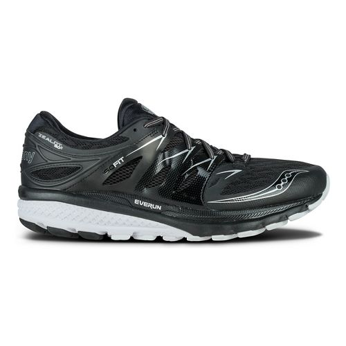 Mens Saucony Zealot ISO 2 Running Shoe - Black/White 12