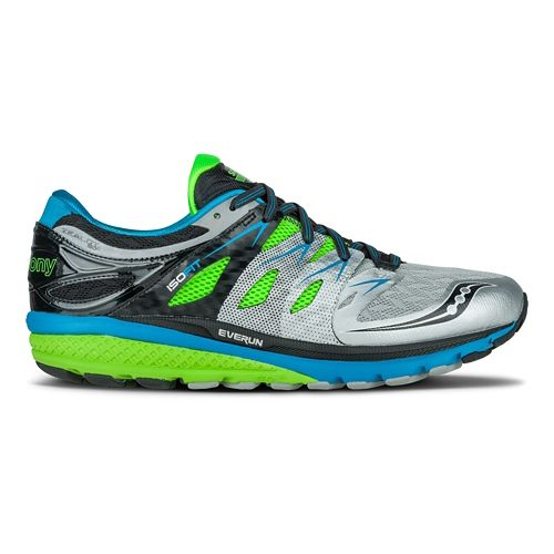 Mens Saucony Zealot ISO 2 Running Shoe - Silver/Slime 10.5