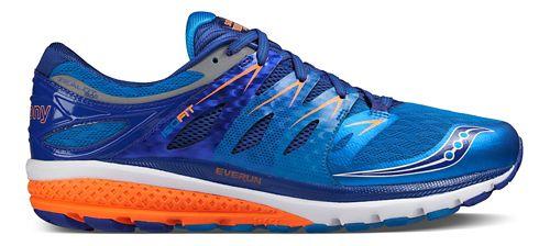 Mens Saucony Zealot ISO 2 Running Shoe - Blue/Orange 9