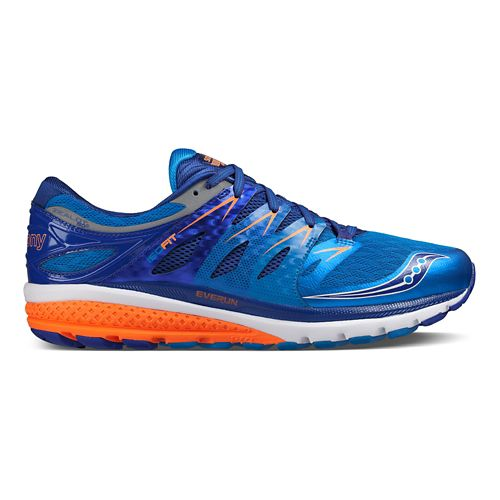 Mens Saucony Zealot ISO 2 Running Shoe - Blue/Orange 9