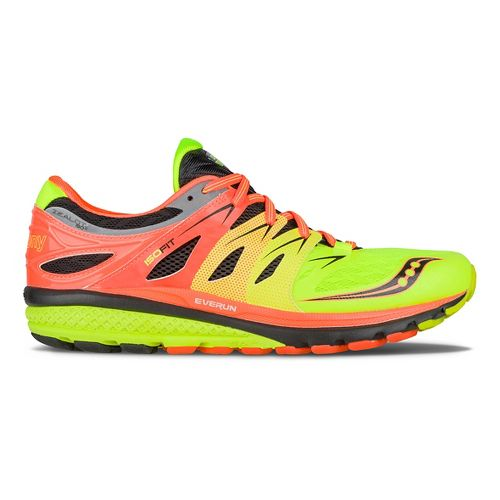 Mens Saucony Zealot ISO 2 Running Shoe - Orange/Citron/Black 13